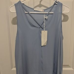 NWT light blue tank with strappy detail